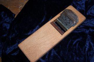 Alter Orginal Japanischer Hobel Geschm Eisen Ca 60 - 70jahre Japan Kanna Eiche Bild