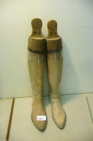 Nr.  431.  Ein Paar Alte Stiefelspanner Holz Stiefelspanner Gr.  42 Bild