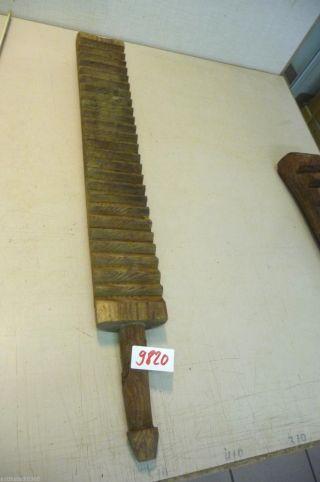 Nr.  9820.  Alter Wäscheklopfer Waschbrett Old Wooden Mangle Wash Scrub Board Bild