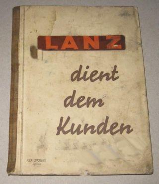 Lanz Buch Kundendienst 1939 Mit Hl 12 Bild
