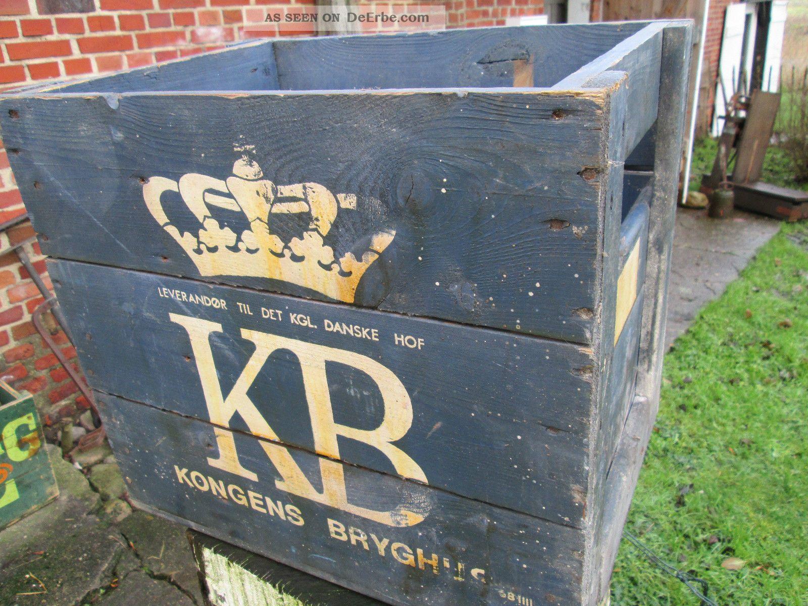 Rarität : Alte Kongens Bryghus (kb) Bierkiste Aus Holz Alte Berufe Bild
