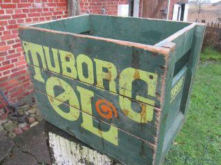 Alte Tuborg Bierkiste Aus Holz Bild