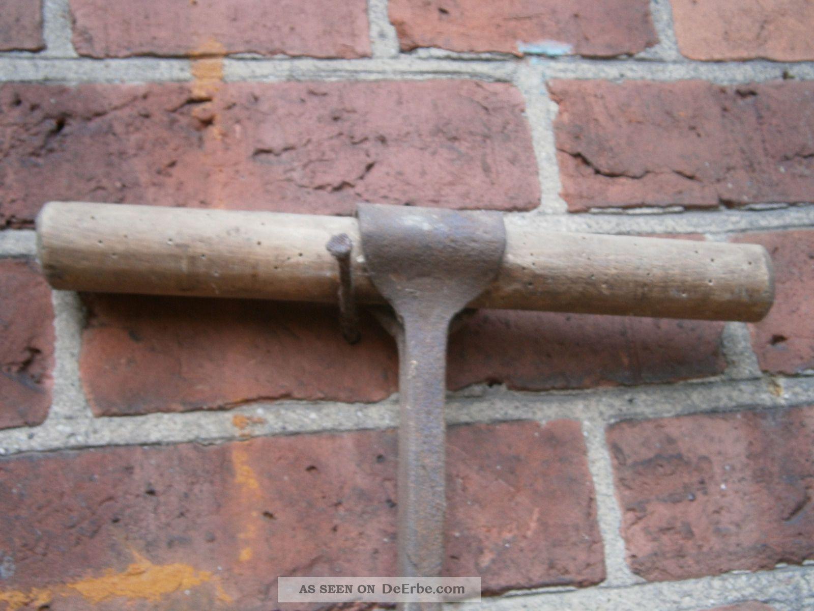 Holzbohrer Antik Von 1900 Zimmermann Schreiner Handbohrer
