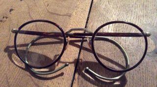 Antike Brille,  Horn,  Vermutlich Jugendstil Bild