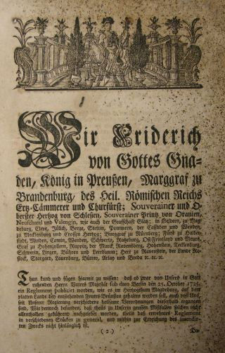 7.  Flugblatt,  Feuerwehr,  Feuergefahr,  Feuerspritze,  Brandschutz,  Berlin,  1772 Bild