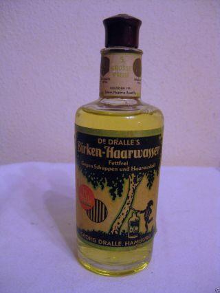 Antike Originale Birken Haarwasser Flasche Mit Vollem Inhalt,  Dr.  Dralle Hamburg Bild