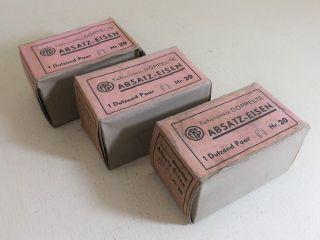 Absatz - Eisen - 3 Dutzend Paar - Nr.  20 - Marke: Ebs Ca.  1920 - 30 (, / -) Bild