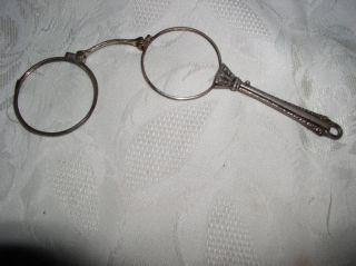 Alte Brille Zwicker Lorignette 835 Slber Bild