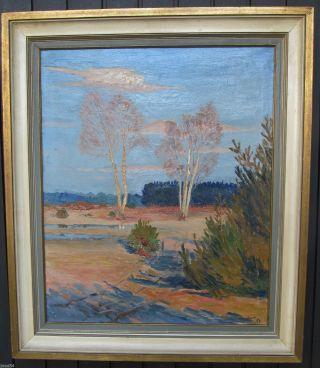 Expressionismus Landschaft Frankreich Altes Abstraktes Ölgemälde Bild