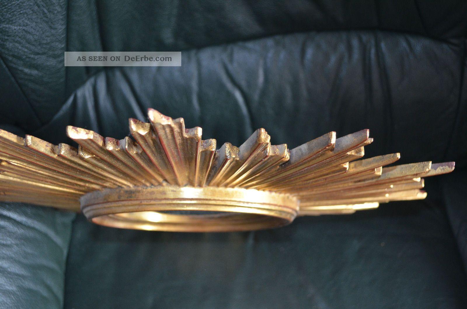 barock antik wandspiegel spiegel sonne runder spiegel in gold ca 45 x 45 cm. Black Bedroom Furniture Sets. Home Design Ideas