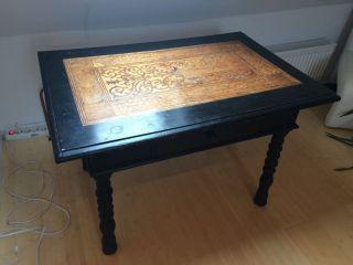 Renaissance Tisch Um 1550 Ad Mit Erstklassigen Intarsien Italien Bild