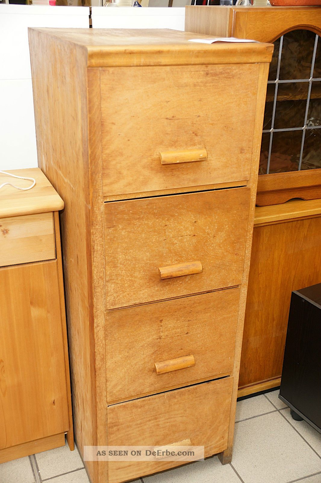 antiker aktenschrank schubladenschrank b roschrank schrank art deco um 1920. Black Bedroom Furniture Sets. Home Design Ideas
