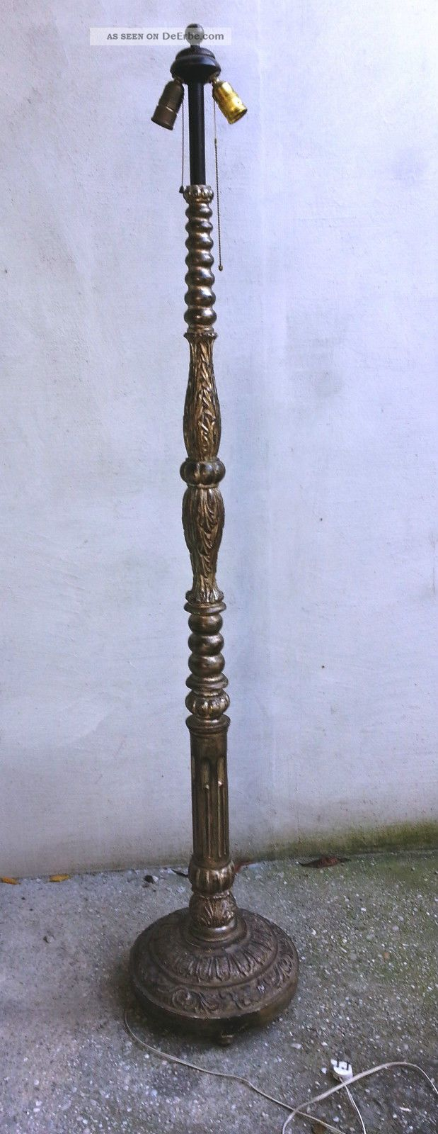 Stehlampe Antik Holz Caseconrad Com