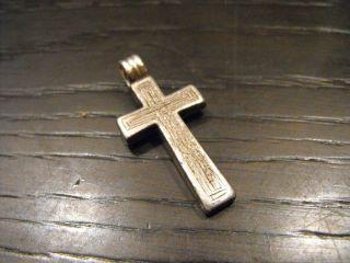 Antik Silber Kreuz,  Alt Bild