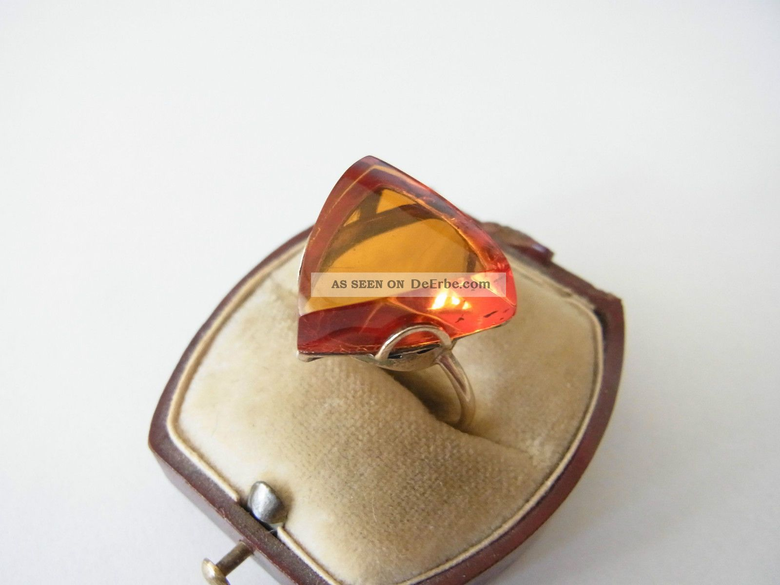 ausgefallener ring silber 875 vergoldet bernstein russland. Black Bedroom Furniture Sets. Home Design Ideas