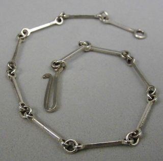 Datiert 1986: Zartes,  Schlichtes Lapponia Armband,  Silber,  Finland Bild