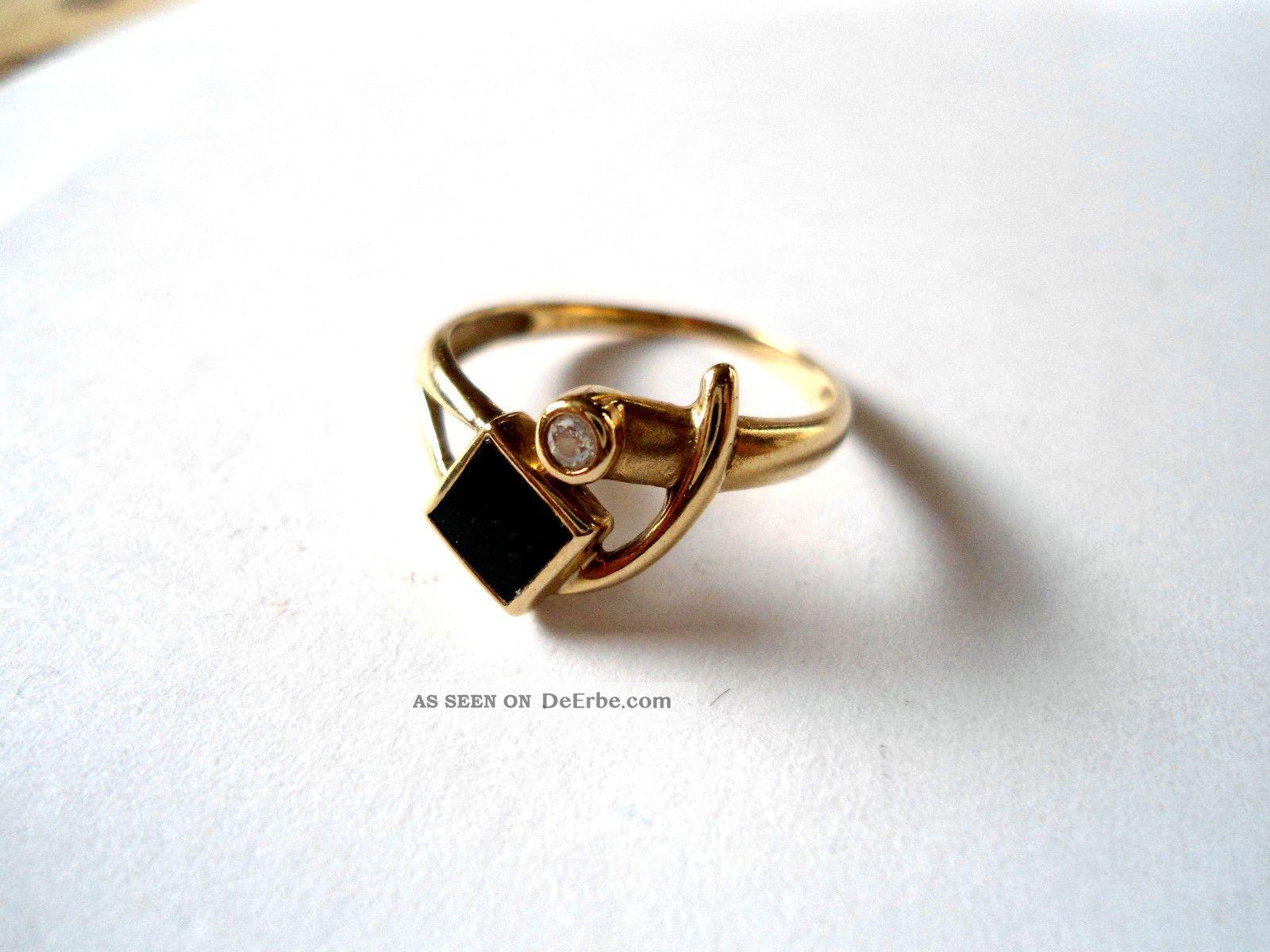 Goldring mit stein  Antikschmuck - Schmuck & Accessoires - Ringe - Gold - Antiquitäten