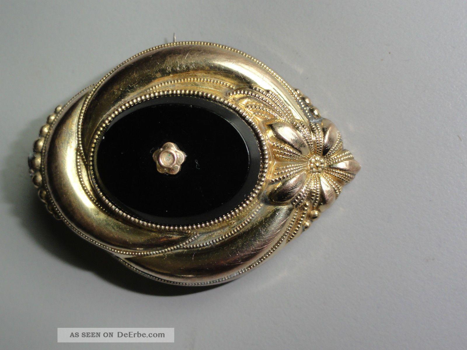Brosche  Antikschmuck - Schmuck nach Epochen - Biedermeier - Antiquitäten