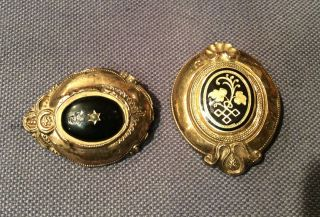 Zwei Biedermeier Schaumgold Broschen Bild