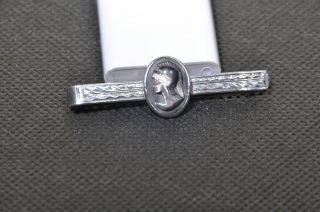 Krawatten Klammer 975 Silber Jugendstil Hämatit Gemmen Römer Um 1920 Selten Top Bild