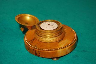 Tischuhr / Miniaturuhr Mit Spindeltaschenuhrwerk Verge Fusee Um 1800 Bild
