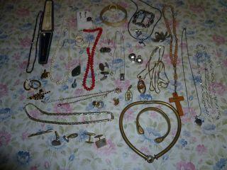 Schmuckkonvult Silber 585er Gold Horn Korallen Perlenkette Modeschmuck Messing Bild