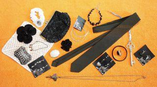 Schmuck - Konvolut,  Modeschmuck,  Krawatte,  Jugendstil - Täschchen / 20 Teile, Bild