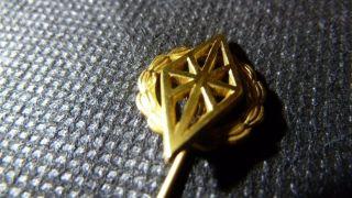 Reversnadel / Krawattennadel 333 Gold Kompas Echt Gold Bild