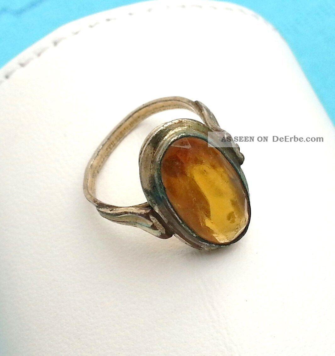 antiker gold double ring mit stein. Black Bedroom Furniture Sets. Home Design Ideas