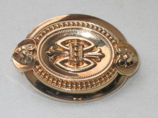 Biedermeier 585er Gold Brosche Um 1840 Design Bild