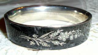 Antiker Biedermeier Armreif Silber Bild