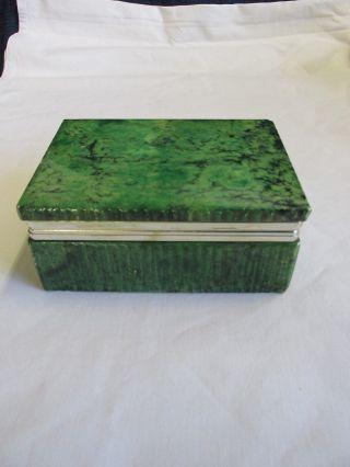 Antike Marmor Schmuckbox In Grün Ca 870 Gramm Schatulle Zigaretten Zigarren Bild