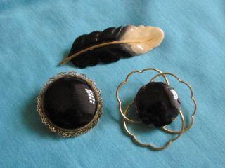 Antikschmuck schmuck accessoires broschen sonstige for Schwarze steine deko