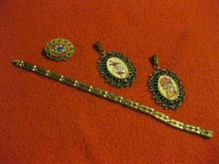 Konvolut,  Brosche,  Armband,  Anhänger,  Golden,  Sammlung,  Nachlass,  Von Oma,  Erbe Bild