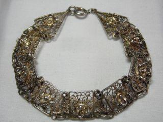 Jugendstil Silber Armband Filigrane Handarbeit Design Bild