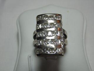 Art_deco 925er Silber Ring 25xbergkristalle Design Bild