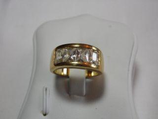Art_deco 925er Silber /vergoldeter Ring 4x Bergkristalle Design Bild