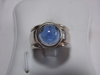 Art_deco 925er Silber Ring Echter Aquamarin Design Bild