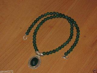 Kette,  Anhänger Mit Grüne Onyx 925er Silber Bild
