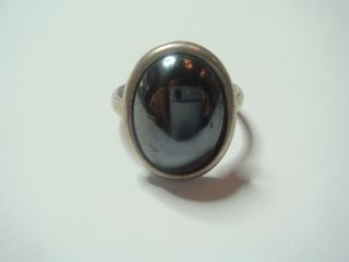 Antiker Art Deco Ring Echt Silber 925 Massiv & Echten Hämatit Mit From Punze Bild