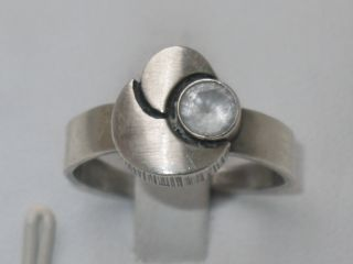 Art - Deco Silber Ring Bergkristall Sten & Laine Design Verstellbar Finnland Bild