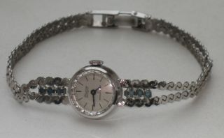 Jugendstil 835er Silber Armbanduhr 6 X Saphir Condor Design Massiv Bild