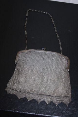 Sehr Alte Metall - Handtasche Mit Bunten Steinen Bild