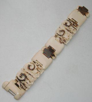 Jugendstil Mammut Armband Design Massiv 35,  7 Gr Neu&ungetragen Bild