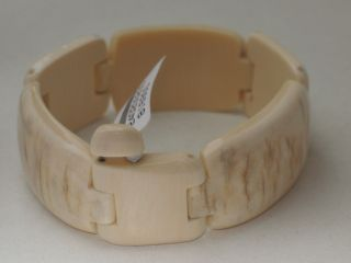 Jugendstil Mammut Armband Design Massiv 38,  1 Gr Neu&ungetragen Bild