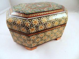 Schmuckschatulle Orient Handarbeit Mosaik Miniaturmalerei Schmuck Dose Box Bild
