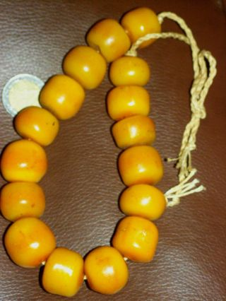 Bernstein Resine Amber Egg Yolk Butterscotch Beads Bild