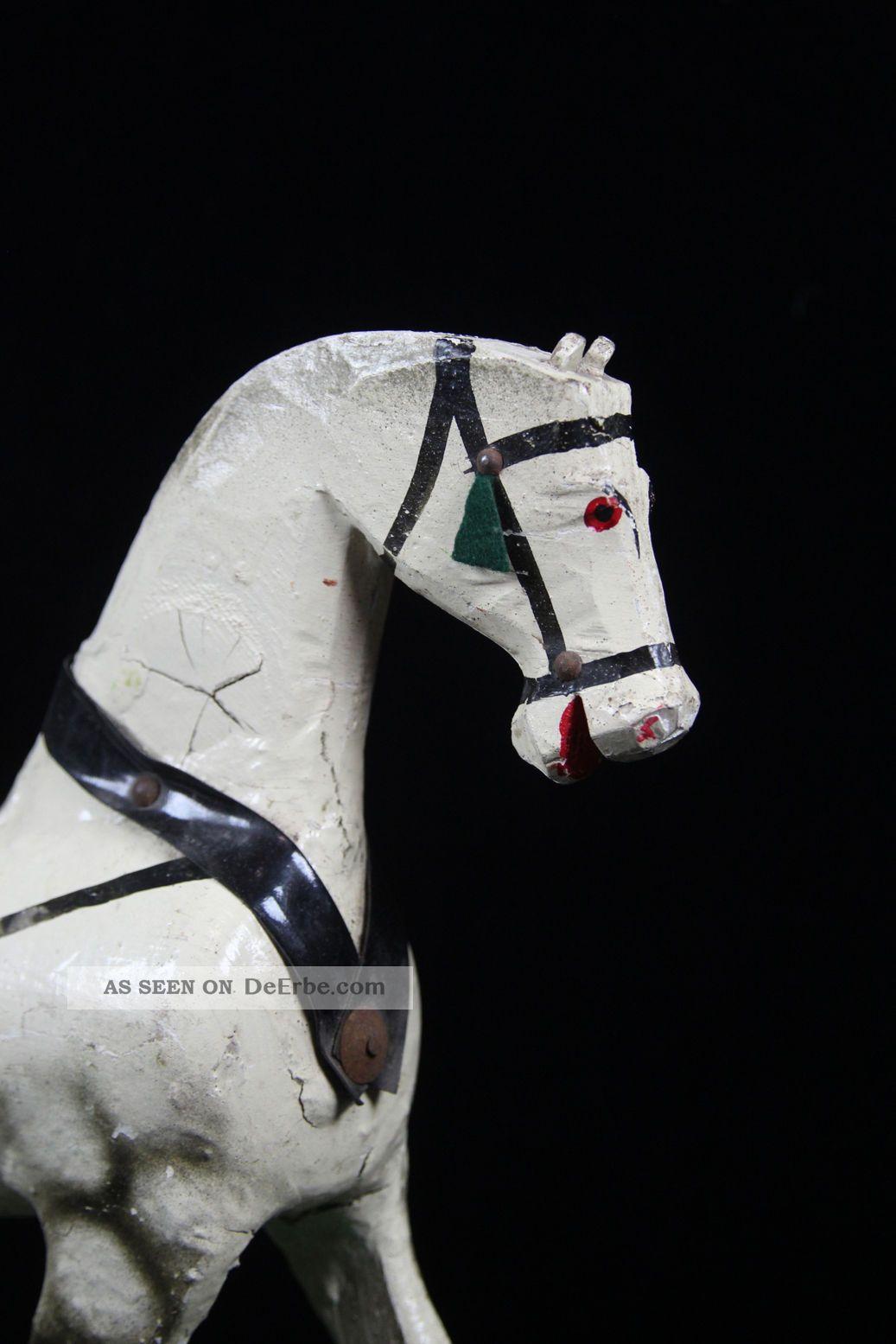 antikes spielzeug pferd schimmel aus holz nachziehtier holzspielzeug 31x12x33 cm. Black Bedroom Furniture Sets. Home Design Ideas