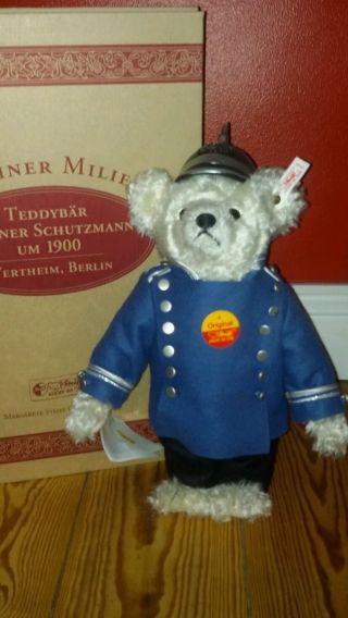 Steiff Teddybär Bär Berliner Schutzmann Um 1900,  1997,  Limitiert In Ovp Bild