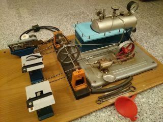 Komplette Dampfmaschine Veb Gaselan Mit Ekt Antriebsmodellen Und Zubehör - Top Bild
